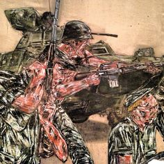 Reminded me of G.I. Joe - Vietnam II by Leon Golub #art #london by RonSchott, via Flickr  DETAIL