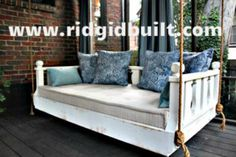 DIY - idea for daybed swing. love the ropes!