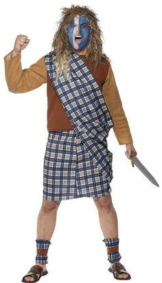 Size L-XL Men's Warrior King Fancy Dress Braveheart Including Facemask New.