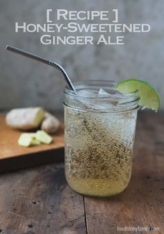 Make this refreshing Honey-Sweetened Ginger Ale with this summer drink recipe!