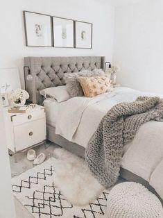 Bedroom Ideas For Teen Girls, Room Ideas Bedroom, Home Decor Bedroom, Modern Bedroom, Master Bedroom, 60s Bedroom, Bedroom Romantic, Bedroom Furniture, Contemporary Bedroom