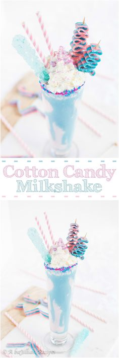 Cotton Candy Milkshake | A baJillian Recipes