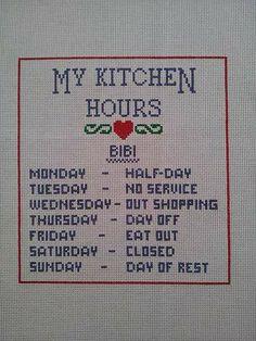 Quadro My Kitchen Hours