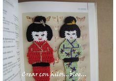 Bigú Handmade: Kokeshi marcapáginas ( Bookmark Kokeshi)... (Instructions not in English but there are pics)