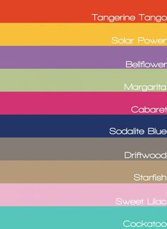 Spring 2012 Fashion Colors