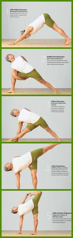 steps to half moon pose via yoga journal