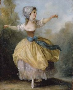 Jean-Frederic Schall (French painter, 1752-1825) Danseuse A young lady dancing in a wooded glade 1780s