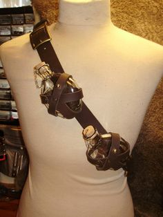 Apothecary potion flask leather baldric with 100ml glass bottles. i know what I'm wearing if I ever go to comicon