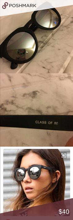Quay Class of '89 Sunglasses Black matte, silver mirrored lenses. Open to offers 😊 Accessories Sunglasses