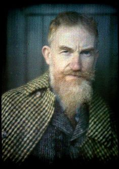 George Bernard Shaw -- autochrome by Alvin Langdon Coburn.