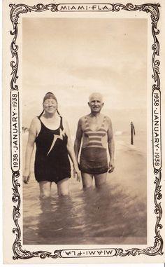 Swimsuits. Miami 1938