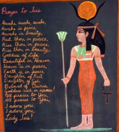 Waldorf ~ 5th grade ~ Ancient Egypt ~ Isis ~ chalkboard drawing