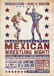 old mexican wrestling poster