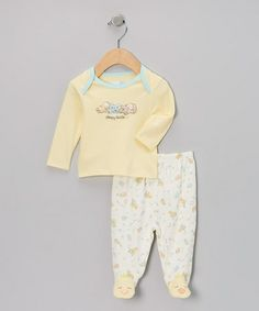 Take a look at this Yellow 'Sleepy Heads' Footie Pajama Set - Infant by Vitamins Baby on #zulily today!