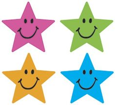 Supershape 'Star Smiles' stickers are the perfect size for marking work or to use with any reward star chart.