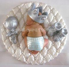 fondant boy | Prince Baby Shower First Birthday FONDANT BOY Cake Topper Baptism ...