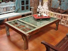 Green Antique Coffee Table    http://www.etsy.com/listing/61317071/green-antique-coffee-table