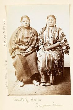 Sauke and Hat-pu S.CHEYENNE GIRLS , 1867