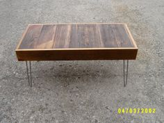 industrial  and steel coffee table bench by wayneswoodworking, $250.00