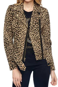 Brown Sexy Leopard Ladies Long Sleeves Slim Lapel Jacket on sale at reasonable prices, buy cheap Brown Sexy Leopard Ladies Long Sleeves Slim Lapel Jacket online at PinkQueen.com now!