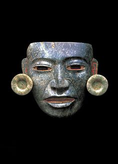 Teotihuacan, Mexico, AD200-650. Serpentine, shell, pyrite, stucco, and jade