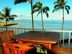 Kihei condo rental - Great place for a private breakfast; or romantic Dinner