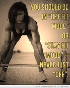 Time to work. Get your summer body NOW!!!  It will be here before you know it.