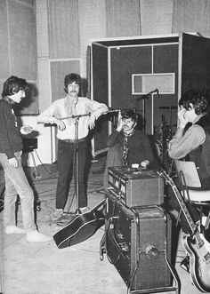 George Harrison, John Lennon, Richard Starkey, and Paul McCartney (studio)