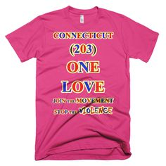 T CALIFORNIA Area Code ONE LOVE TSHIRT - Area code 203 usa