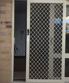 Aluminium Diamond Doors Melbourne - If you're looking for a heavy-duty, strong door, a steel door could be your best option. Please contact AAA Security Doors for security doors service in Melbourne. Wooden Front Door Design, Door Gate Design, Wooden Front Doors, Security Shutters, Security Doors, Home Security Tips, Porche, Welding Table, Shutter Doors