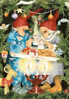 29 Ideas Illustration Art Funny Inge Look Art And Illustration, Illustrations, Vintage Christmas, Christmas Time, Old Lady Humor, Nordic Art, Scandinavian Christmas, Whimsical Art, Yule