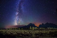Stars over Teton Range by Royce's NightScapes, via 500px