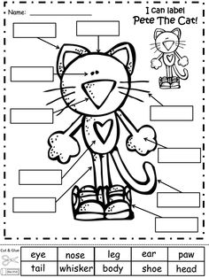 Pete the Cat activities: FREE Converse shoe template by