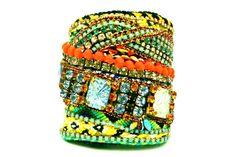 Janis Diamonds Are a Girl's Best Friendship Cuff Bracelet by DolorisPetunia on Etsy