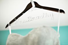 Personalized Hanger | Photography by Vibrenti: http://vibrenti.com/weddings/
