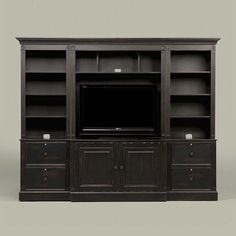 Built in entertainment center using IKEA Hemne pieces (2 bookcases ...
