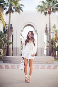 Theory Ada Blazer (also here) J Brand Top See by Chloé Silk Crepe Shorts Coach Pinnacle Haley Bag Gucci Ursula Cage High Heel Sandals (also in blue and red)