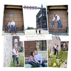 engagement shoot at the old pabst brewery