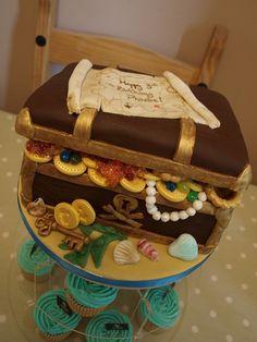 Pirate Treasure Chest cake