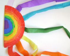 Rainbow Streamers -   -  Pinned by @PediaStaff – Please Visit ht.ly/63sNt for all our pediatric therapy pins