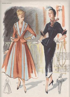 I warned you.I have piles of these things! It seems that everyone is enjoying the opportunity to see the styles that I have been abl. Moda Vintage, Vintage Vogue, Vintage Hats, 1940s Fashion, Vintage Fashion, French Fashion, Victorian Fashion, Gothic Fashion, Ladies Fashion