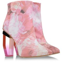#Miista #Ankle #Boots #glass #crystal #heel #pink #pastel #fashion #accesories #luv