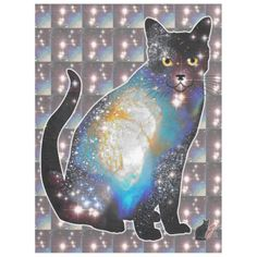 What could be nicer than to cuddle in a Space In Cat fleece? Their cosmic cuteness will provide out of this world comfort. Feel confident that no meteors or asteroids will impact you wrapped in this Space In Cat fleece. Over 3000 products at my Zazzle online store. Open 24/7  World wide! Custom one-of-a-kind items shipped to your door. This art is exclusively @  http://www.zazzle.com/greg_lloyd_arts*?rf=238198296477835081
