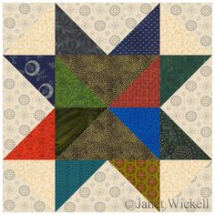 Here's an easy star quilt block pattern that helps you use those little pieces of fabric that are lurking in your leftover scrap bin.