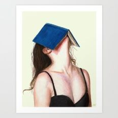 Art Print featuring Books by Carlos-ARL