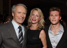 Clint Eastwood, Alison Eastwood, and Scott Eastwood at the Los Angeles premiere of 'Invictus' in 2009