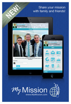 """Free app for LDS Missionaries and their families! """"My Mission"""""""