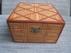 Hand made Wood Parquetry Jewelry Box with Felt by Esoterique50, $45.00