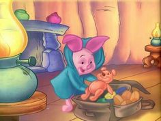 porcinet fait ses bagages