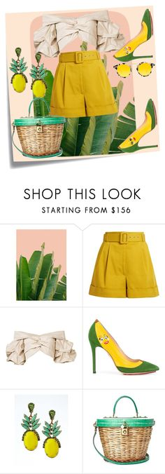 """Bez naslova #50"" by melli-ssa ❤ liked on Polyvore featuring Post-It, Isa Arfen, Johanna Ortiz, Charlotte Olympia, Banana Republic, Dolce&Gabbana, Krewe, Summer, outfit and love"